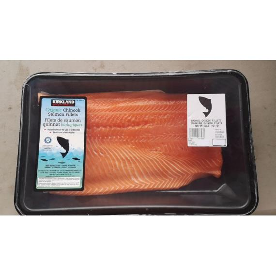 Organic Chinook Salmon Fillets - 1 kg ( +/- 50 g)