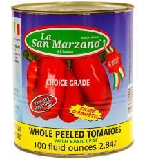 La San Marzano Italian Whole Peeled Tomatoes, 2.84 L