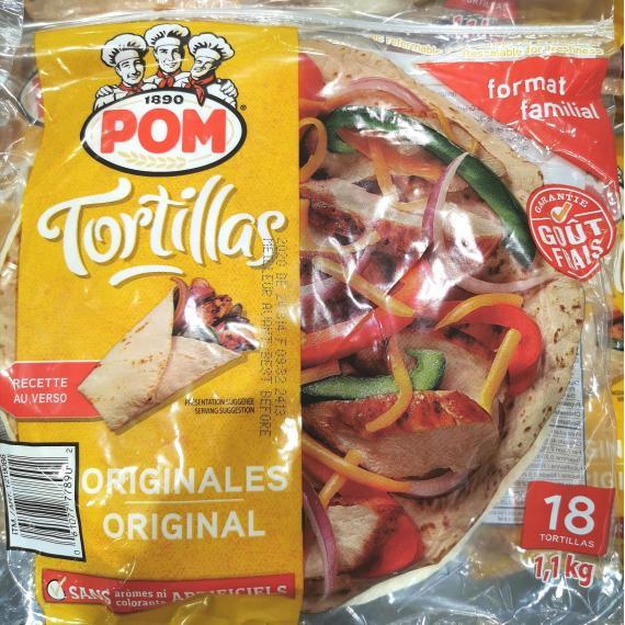 POM Original Tortillas 1.1 kg (18 Tortillas)