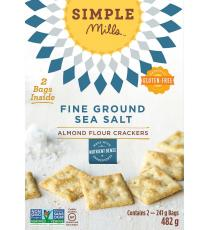 Simple Mills Almond Flour Crackers with Fine Ground Sea Salt, 2 bags x 241 g, 482 g