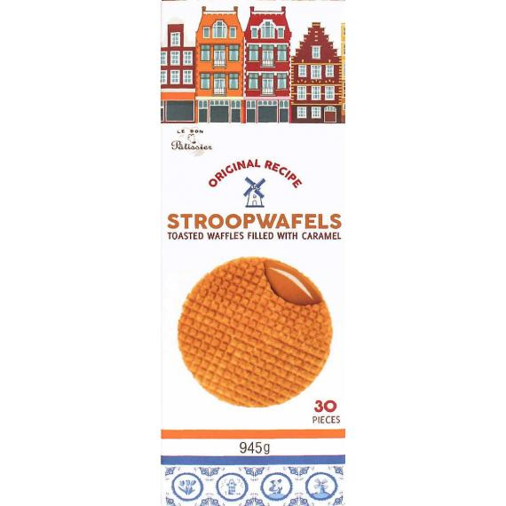 Source text Stroopwafels – Toasted Waffles filled with Caramel, 945 gr, 3 packs, 30 pieces