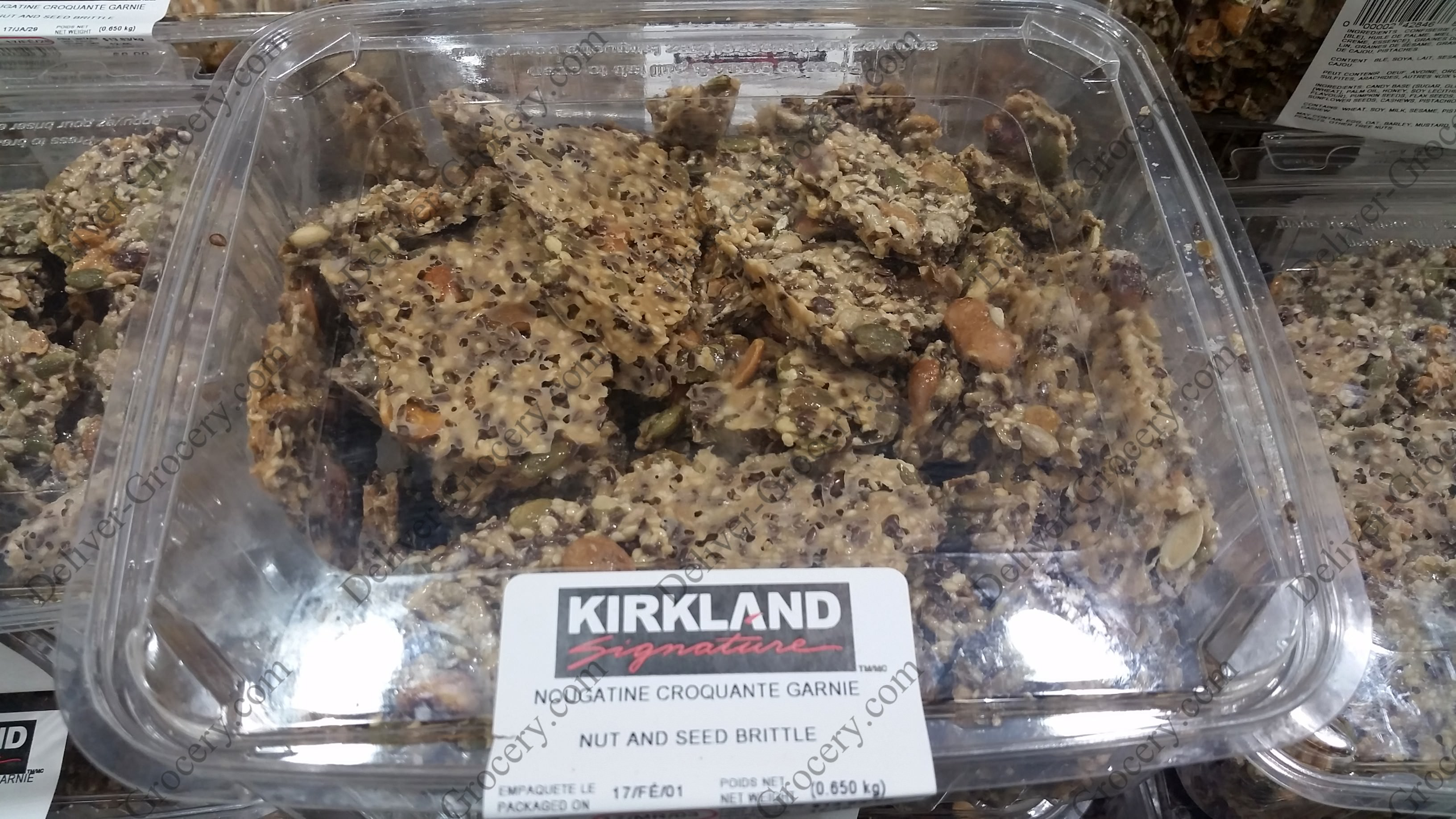 Kirkland Signature Nut and Seed Brittle 850 g - Deliver