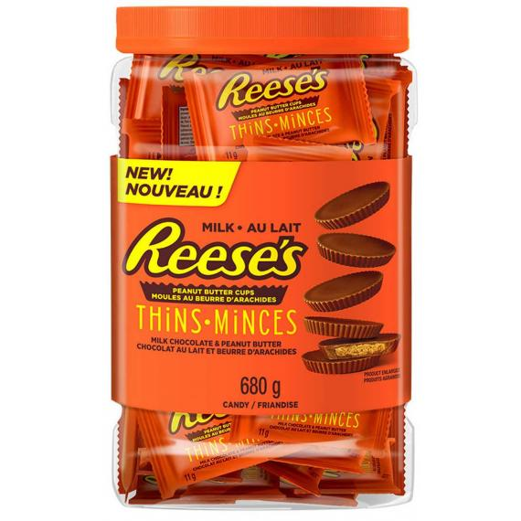 Reese's Thins Peanut Butter Cups Milk Chocolate, 680 gr