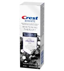 Crest 3DW Whitening Therapy Charcoal Toothpaste, 4 x 90 mL