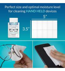 Optico Professional, Cleaning Wipes for Optical and Electronic Surfaces, 3 x 60 Wipes