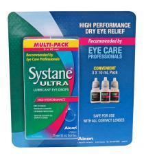 Systane Ultra-lubricant Eye Drops, 3 × 10 mL Bottles