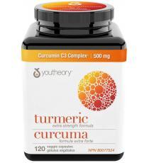 Youtheory Turmeric Extra Strength 500 mg - 120 Veggie Capsules