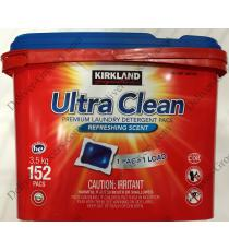Kirklnad Ultra Clean Laundry Detergent Pack, 152 pods, 3.5 kg