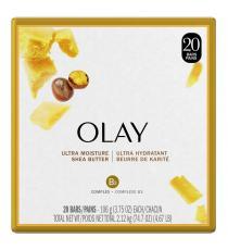 Olay Savon de beauté ultra hydratant au beurre de karité, 20 × 106 g