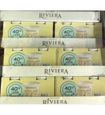 Riviera, Greek Vanilla Yogurt, 40% less sugar, 2x750 g