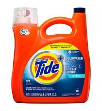Tide - Détergent à lessive liquide Propreté en eau froide, 123 brassées