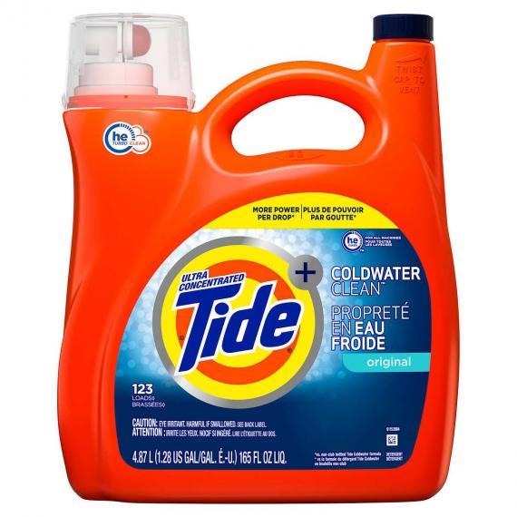 Tide Coldwater Clean Liquid Laundry Detergent, 123 wash loads