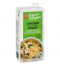 PC biologique Bouillon de poulet à teneur réduite en sodium 900 ml