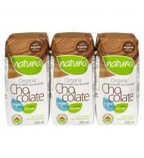 NATURA Organic Soy Chocolate Beverage - 3x200mL