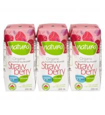 NATURA Organic Soy Strawberry Beverage - 3x200mL