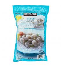 Kirkland Signature Frozen Chemical-free 50/70 Tail-off Raw Shrimp 907 g