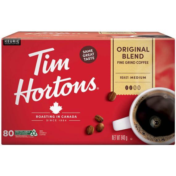 Tim Hortons Original Blend Coffee, 72 cups, 756 g