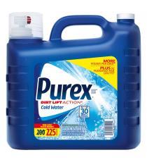 Purex, détergent à lessive à eau froide, 225 brassées, 9 L
