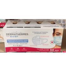 Dermathermes, Disposable Masks, 3 protective layers, 50 units