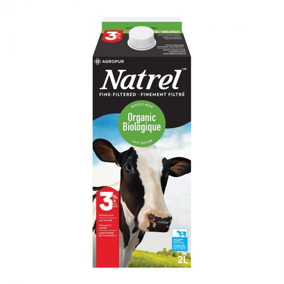 Natrel Bio Au Lait Entier De 3,8%, 2 L