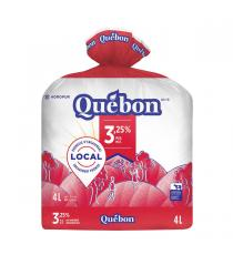 Quebon Milk 3.25%, 4 L