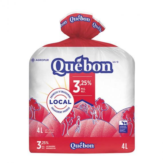 Quebon Milk 3.25%, 4 L