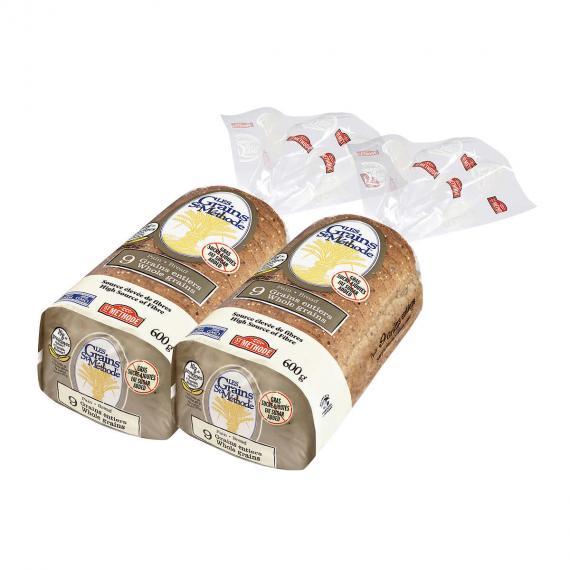 Boulangerie St-Methode Whole Grains Bread, 2 packs x 600 g