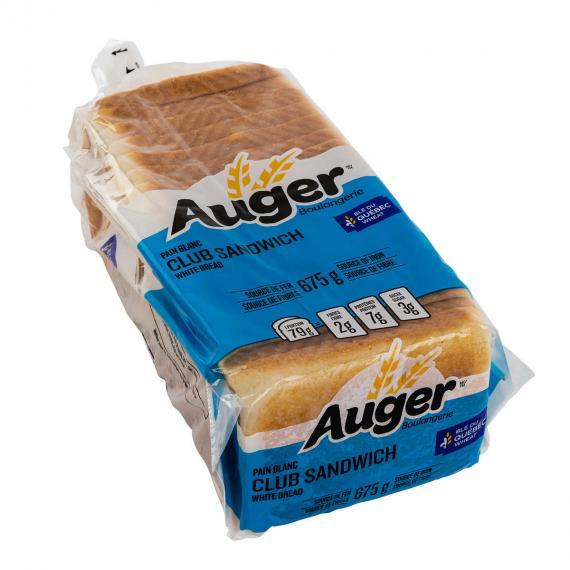 Auger Club Sandwich de Pain Blanc, de 3 packs x 675 g