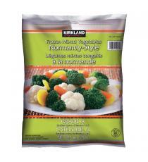 Kirkland Signature Frozen Mixed Vegetables Normandy Style, 2.5 kg