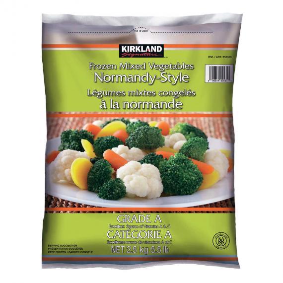 Kirkland Signature mélange de Légumes Congelés de Style normand, 2,5 kg