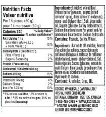 Kirkland Signature - Bretzels au beurre d'arachide, 1,56 kg