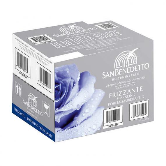 San Benedetto - Eau minérale naturelle pétillante 12 × 750 ml
