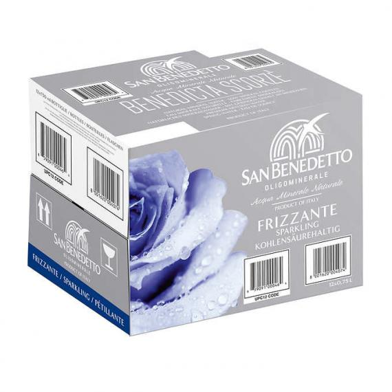 San Benedetto Sparkling Natural Mineral Water 12 × 750 mL