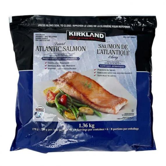 Kirkland Signature Frozen Atlantic Salmon 1.36 kg