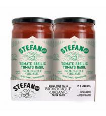 Stefano Sauce Biologique Tomate Et Basilic, 2 x 900 mL