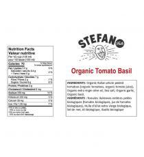 Stefano Organic Tomato Basil Sauce, 2 x 900 mL