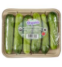 Organic mini cucumber, 6 units, 342 g