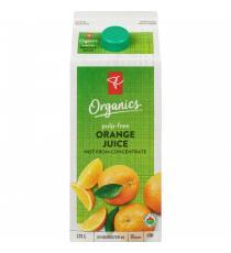 PC ORGANICS, Jus d'orange de Floride 100 %, avec pulpe, 1,75 L
