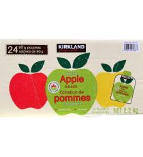 Kirkland, Snack aux pommes bio, 24 sachets, 90 gr