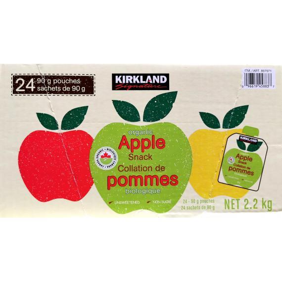 Kirkland Organic Apple Snack, 24 pouches, 90 gr