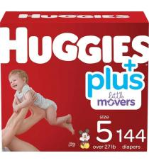 Huggies Little Movers Diapers Plus, Size 5, 144 ct