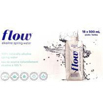 Flow, Eau de source alcaline, 18x500 ml