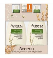 Aveeno - Lotion hydratante quotidienne 600 ml, Paquet de 2