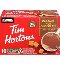 TIM HORTONS K Cup Hot Chocolate, Caramel, 10 counts