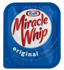 Kraft Miracle Whip, Pack of 200