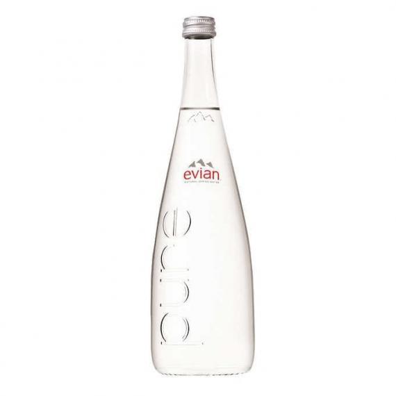 Evian Natural Spring Water 20 × 330 mL (glass bottle)
