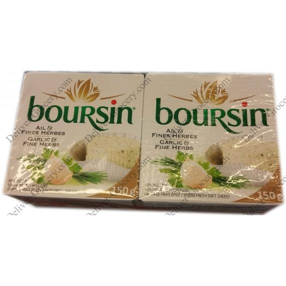 Boursin Garlic Cheese 2 x 150 g