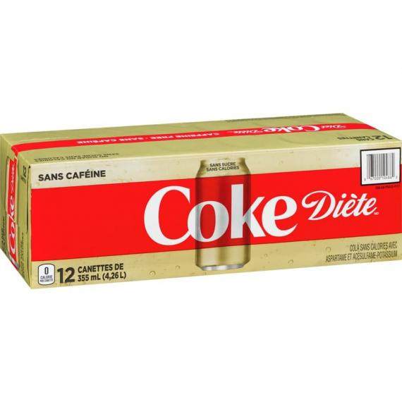 COCA-COLA Diet Coke Caffeine Free 12 x 355 ml