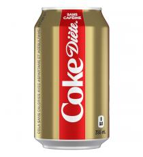 COCA-COLA Coke Diète Sans Caféine 12 x 355 ml