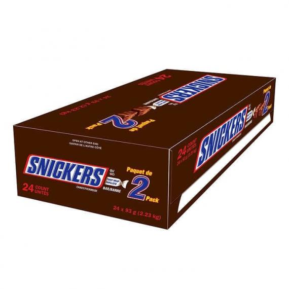 Snickers King Size Chocolate Bars, 24 × 93 g